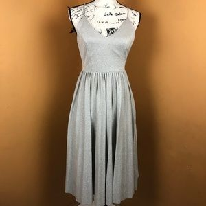 Anthropologie Elevenses Silver Lunar Dress Size 2